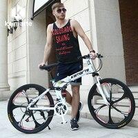 Nga bán buôn và nhà kho Top chất lượng 26 Inch gấp xe đạp leo núi 21 Tốc Phanh Đĩa Đôi hoàn chỉnh xe đạp
