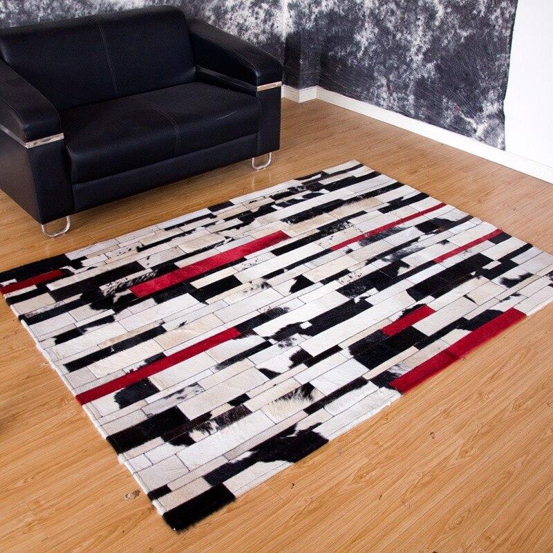 Peau de vache moderne Patchwork tapis tapis peau de vache naturelle cache la conception
