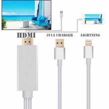 new update 2M Lightning To HDMI/HDTV AV TV Cable Adapter For Apple iPad iPhone 5S 6 6S Plus 7 IPAD