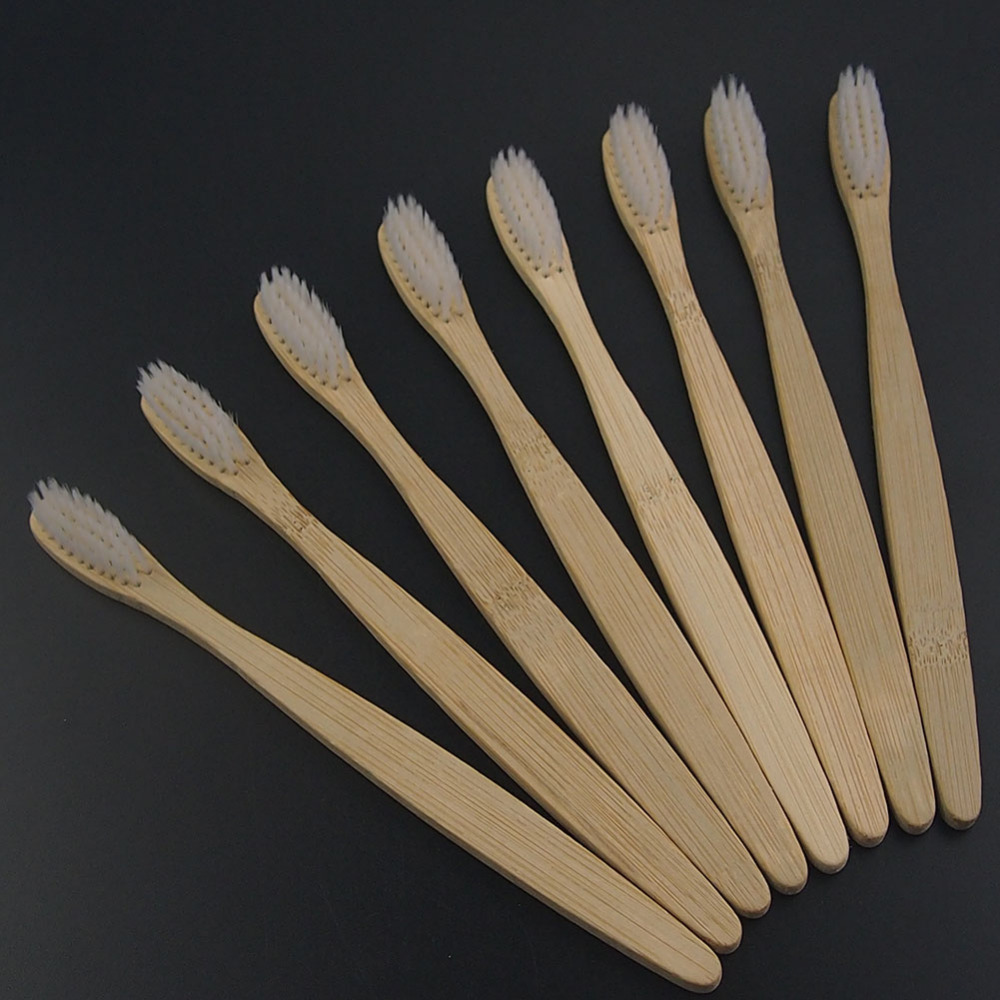 DR.PERFECT best cheap 8PCS/lot bamboo dental Care Soft Bristle Eco friendly wooden Bamboo Toothbrush tongue scraper image