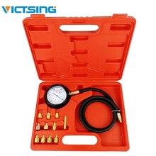 VicTsing Gauge Engine Diagnostic Tester Oil Pressure Tester Set Auto Transmission 500 PSI Oil Pressure Tester Gauge Kit Auto