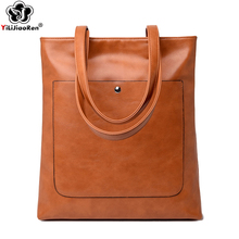 Vintage Large Capacity Tote Bag Luxury Handbags Women Bags Designer High Quality Oil Wax Leather Shoulder Bag Female Sac A Main недорго, оригинальная цена