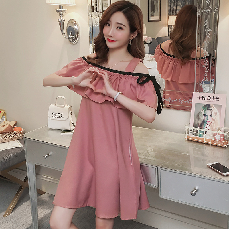 462200aef86c8 Korea's new maternity summer breastfeeding dress fashion strapless plus  size Pregnant Woman nursing Dresses pregnancy clothes-in Dresses from  Mother & Kids ...