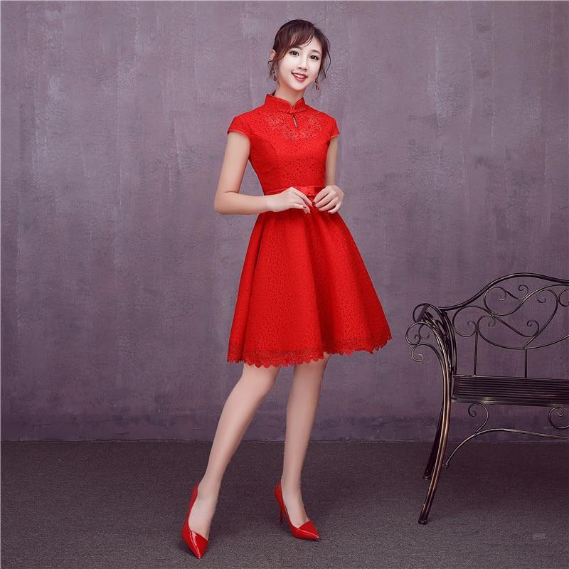 Vistoso Vestidos De Dama Rojos Cortos Embellecimiento - Vestido de ...