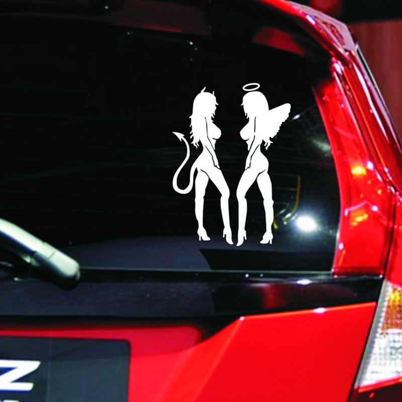 エンジェル美容車のステッカー防水リフレクタースクラッチブロッキング用フォードフォーカス2 bmw e46 e90 e60プジョー307 206アウディa3パサート