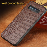 Luxury Genuine Leather case For Samsung Galaxy s10 9 8 7 6 plus Shockproof Crocodile funda back cover For Samsung Note 8 9 a50
