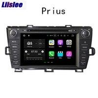 Liislee 2 din для Toyota Prius XW30 2009 ~ 2015 Автомобильный навигатор gps Android авто радио большой экран мультимедийный плеер Bluetooth