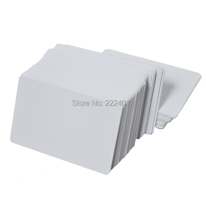 Premium Blank PVC Cards For ID Badge Printers Graphic Quality White Plastic CR80 0.6mm For Zebra For Fargo,for Magicard Printer