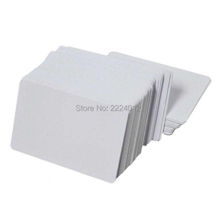 Premium Blank PVC Cards For ID Badge Printers Graphic Quality White Plastic CR80 0.6mm For Zebra For Fargo,for Magicard Printer