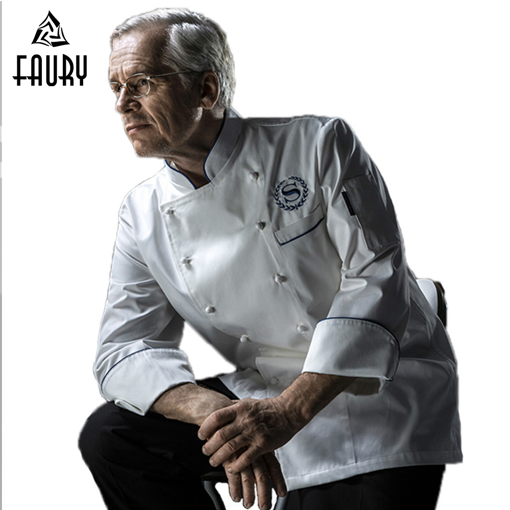 High Quality Chef Jackets Uniforms Food Services Clothing Long Sleeve Men Cooking Clothes Coat Restaurant Hotel Kitchen Uniform
