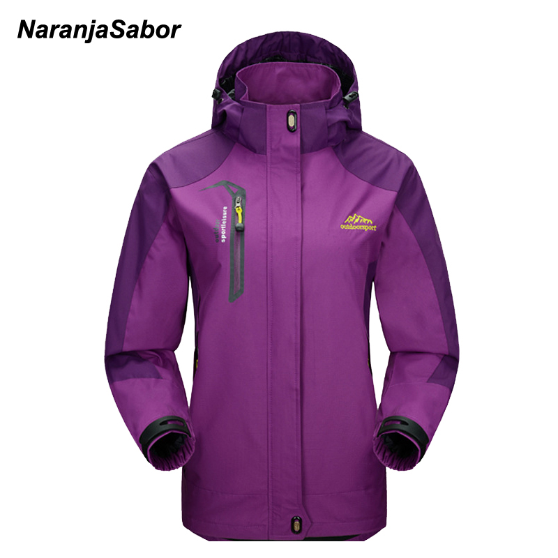 NaranjaSabor Spring Women's Jackets Waterproof Coats Women Windbreaker Female Casual Coat Women Clothing Sportwear 4XL