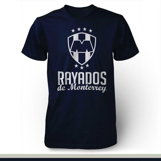 Rayados de Monterrey Mexico Futbol Soccer T Shirt Camiseta Jersey High  Quality Custom Printed Tops Hipster Tees T-Shirt 88243108e7e4c