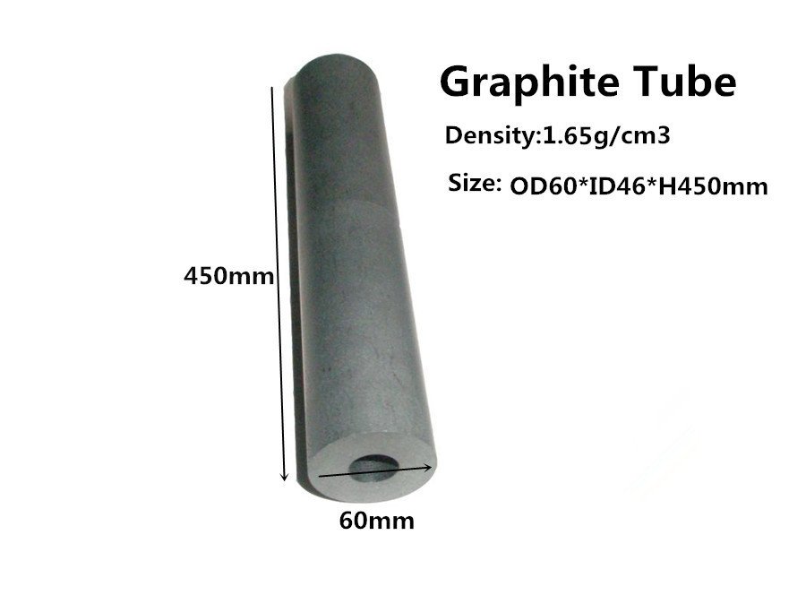 Graphite tube dia.60*450mm ,    pure graphite tube for Vacuum Furnace,   graphite tube for high temperature furnace graphtie tube resister out diameter32mm length650mm inner dia 19mm graphite mold tube graphite