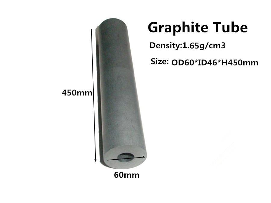 Graphite tube dia.60*450mm ,    pure graphite tube for Vacuum Furnace,   graphite tube for high temperature furnace bellehome pure graphite