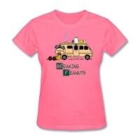 의 매시업 브레이킹 땅콩 시리즈 여자 뜨거운 t 셔츠 기독교 여성 선물 티셔츠 짧은 소매 티 탑