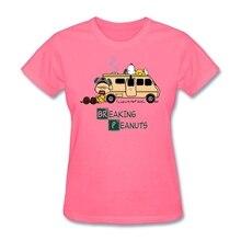 Mashup di Breaking Bad e Arachidi serie Donna Hot t shirt Christian Regalo Femminile magliette Short sleeve Tee Magliette E Camicette sito web