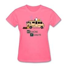 Mashup of Breaking Bad and Peanuts series Woman Hot t shirt Christian Female Gift tshirts Short sleeve Tee Tops Website