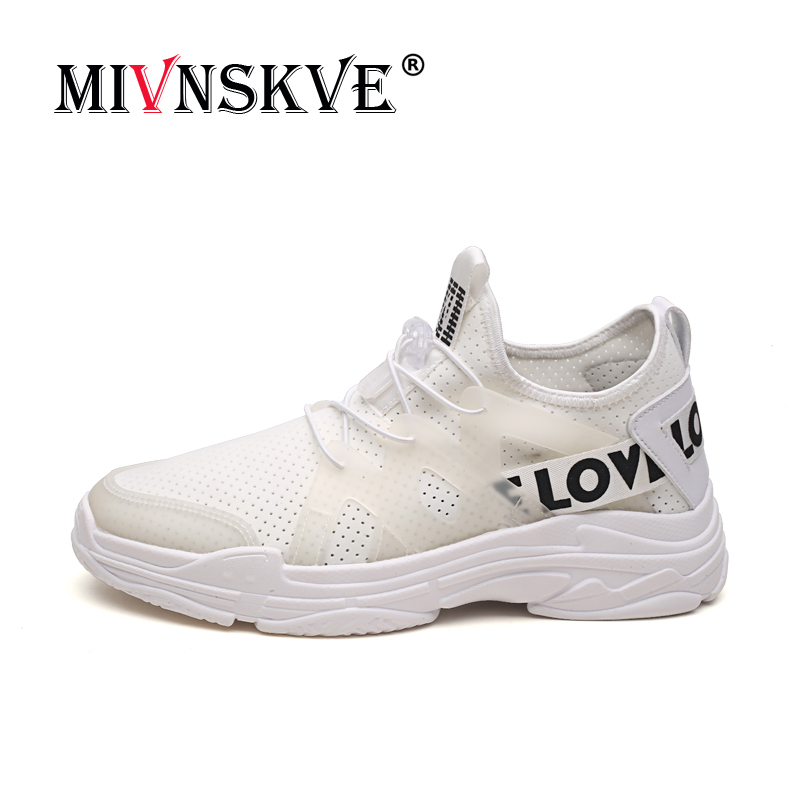 MIVNSKVE New Popular 39~44 size Men Running Shoes Lace Up Athletic Ultralight Sprot Shoes Outdoor Walking Sneakers Comfortable