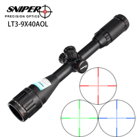 Hunting RifleScope Sniper LT 3 9X40 AOL 1 inch Full Size Tactical Optical Sight Illuminate Mil Dot Locking Resetting Rifle Scope