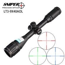 منظار بندقية للصيد طراز RifleScope قناص LT 3 9X40 AOL مقاس 1 بوصة بمقاس كامل إضاءة تكتيكية للرؤية البصرية مع خاصية ميل دوت لإعادة ضبط نطاق البندقية