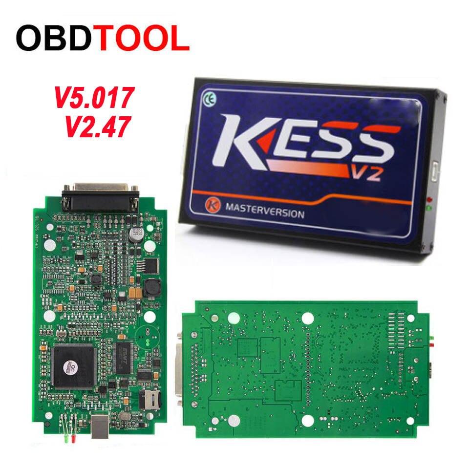 KESS V2 Master Kess V2.47 V2.23 V5.017 carte PCB rouge vert sans limite de jeton ECU programmation Ktag OBD2 gestionnaire Kit de réglage pour camion de voiture