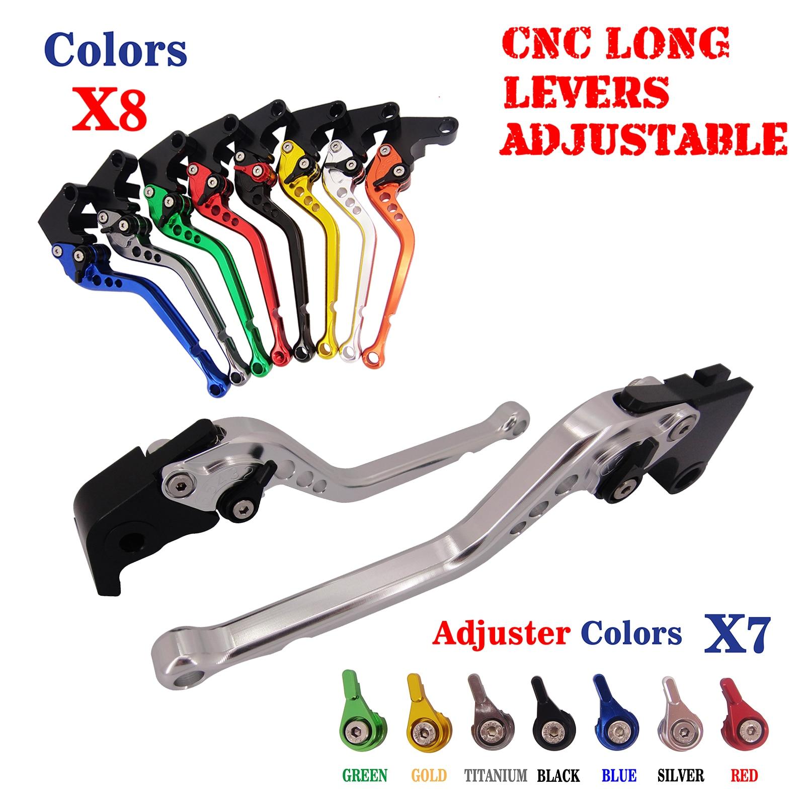 For Aprilia SHIVER 750 GT 2007-2014  CNC Long  Adjustable Brake Clutch Levers cnc billet adjustable folding brake clutch levers for aprilia dorsoduro 750 factory shiver gt 750 07 14 08 09 10 11 12 2013