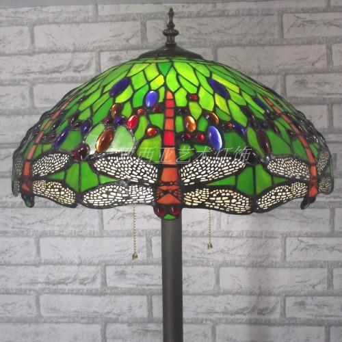 16 Inch Tiffany Style Dragonfly Stained Gl Floor Lamp For Living Room Bedroom Home Decoration