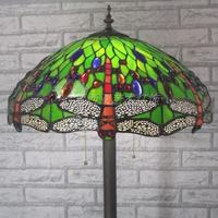 16 inch Tiffany style dragonfly stained glass Floor Lamp for Living Room bedroom home Decoration lamp