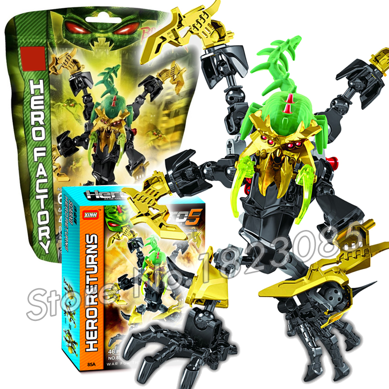 Bela Hero Factory Brain Attack SCAROX Model Building Blocks Toys Compatible With Lego