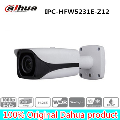 IPC-HFW5231E-Z12 2MP Full HD WDR Network IR Starlight Bullet Camera IPC-HFW5231E-Z12,free DHL shipping