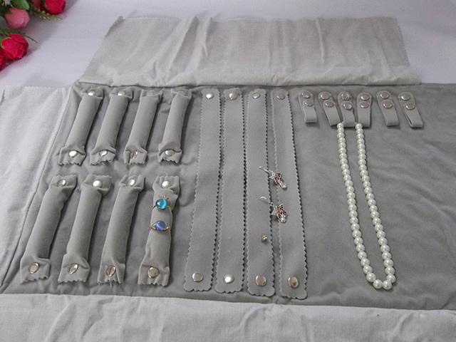 Superior Jewelry Display Rolls Travel Portable Organizer Multi