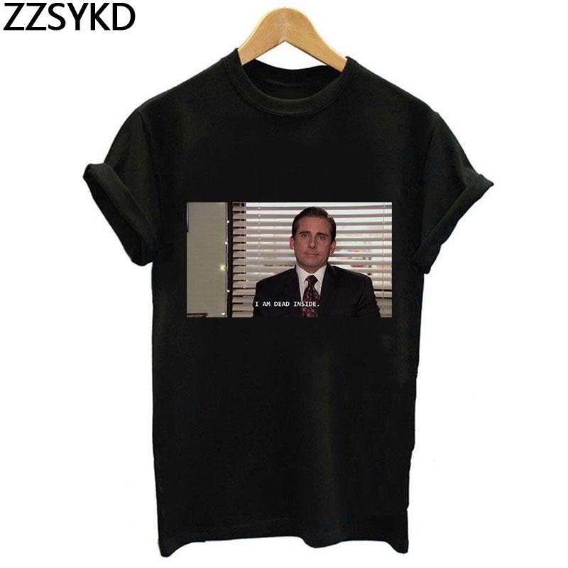 Je suis mort à l'intérieur drôle t-shirts femmes bureau Michael Scott Vintage T-Shirt femme Harajuku Grunge mode t-shirts chemise hauts Tumblr