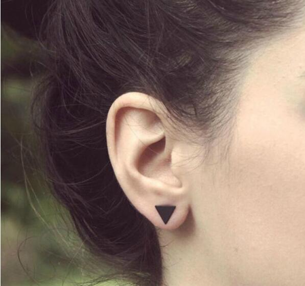 Hot Sale Wholesale New Style Punk Fashion Gold Silver Plated Simple Bar Star Saturn Earrings Women Girl Ear Stud Fine Jewelry