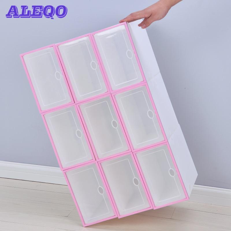 Transparent Drawer Case Plastic Shoe Boxes Storage Organizer Stackable Box