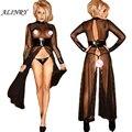 2017 Novas mulheres lingerie sexy hot black lace correias de couro silng perspectiva sexy noite saia + tangas tentação lingerie erótica