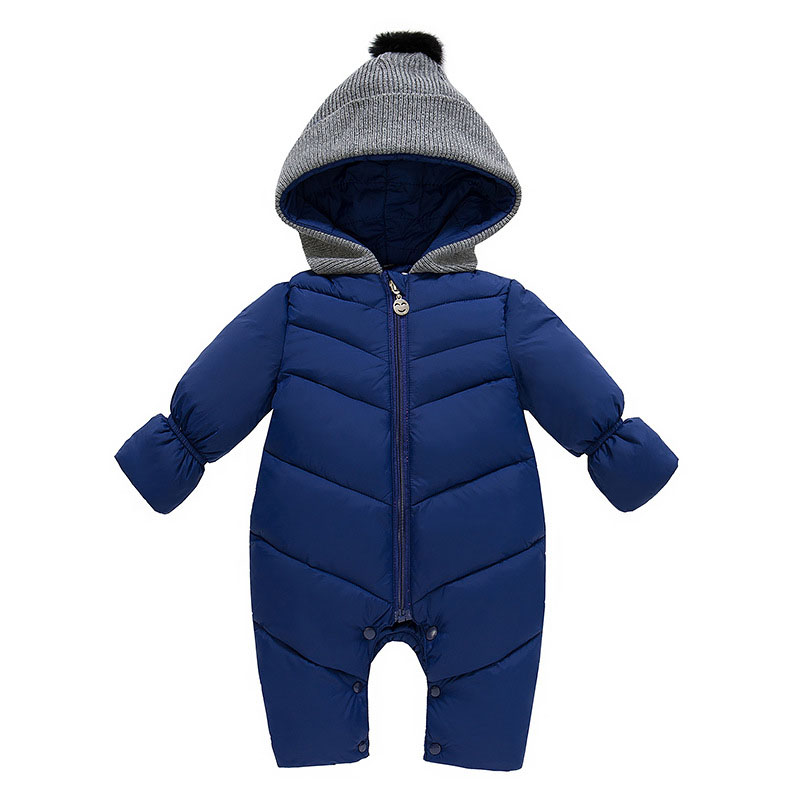 Baby Solid Rompers Winter Baby Boy Snowsuit Romper Toddler Cotton One-piece Suit Infant Warm Hoody Jumpsuit Coverall For Newborn baby boy clothes kids bodysuit infant coverall newborn romper short sleeve polo shirt cotton children costume outfit suit