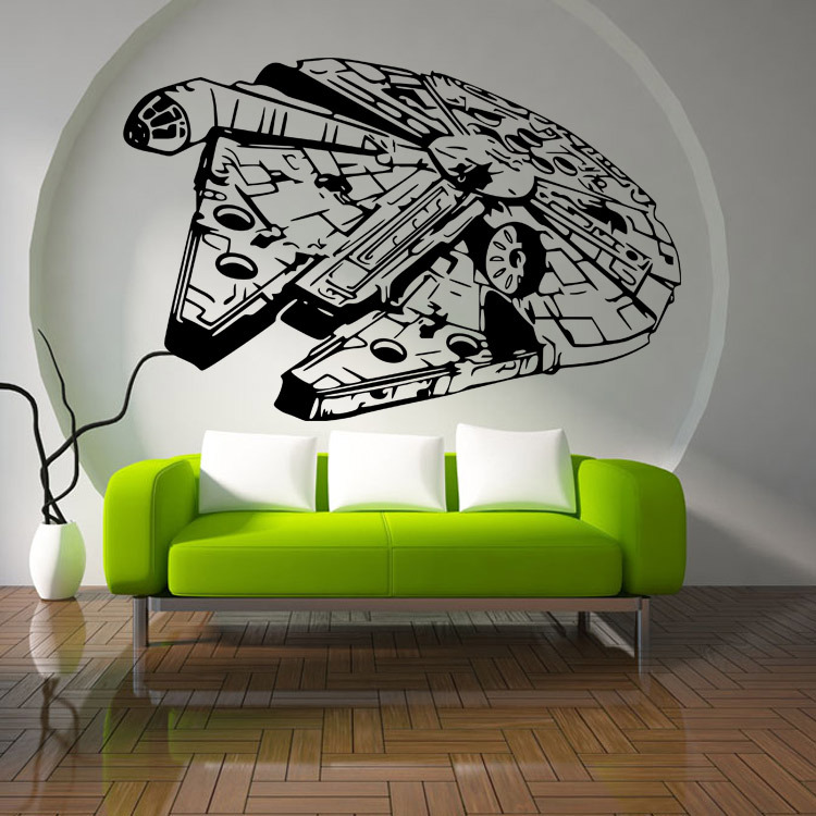 Hot Millenium Falcon Star Wars Wall Art Stickers Decal DIY Home
