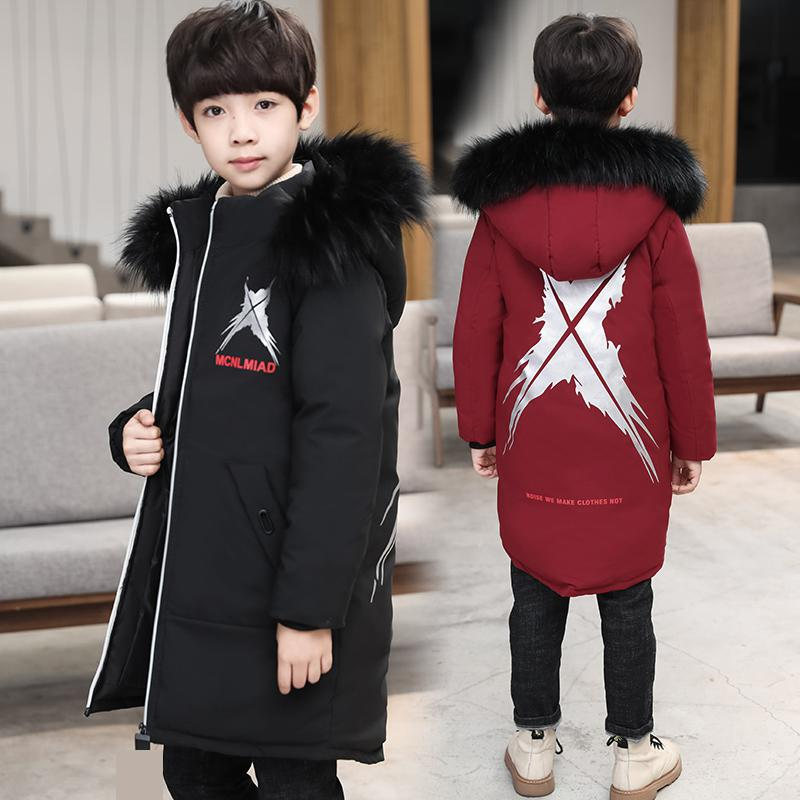все цены на 2018 Jackets For Boys Coats Print Winter Warm Toddler Boys Cotton Down Jackets Children Clothing Hooded Kids Outerwear Snowsuits
