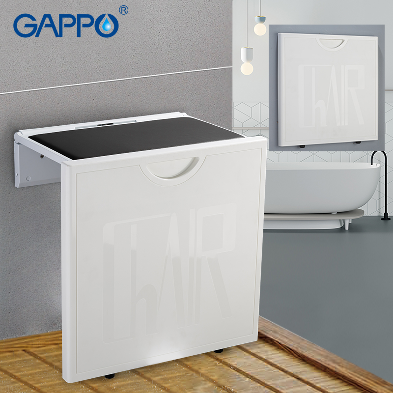 Strange Us 91 98 50 Off Gappo Wall Mounted Shower Seats Shower Folding Seat Wall Mounted Shower Seats Shower Stool Folding Toilet Chair For Elderly In Wall Ocoug Best Dining Table And Chair Ideas Images Ocougorg