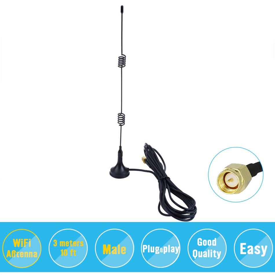 2.4GHz 9DBI Wireless Wifi WLAN 5 X Range Booster Antenna Extender +Base