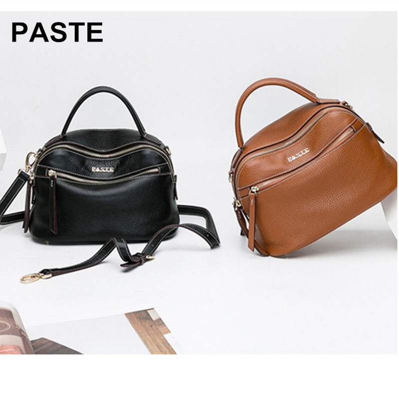 Genuine Leather Women's Messenger Bags First Layer Of Cowhide Crossbody Bags large capacity Shoulder Tote Bag piel verdad bolso fashion women bags 100% first layer of cowhide genuine leather women bag messenger crossbody shoulder handbags tote high quality