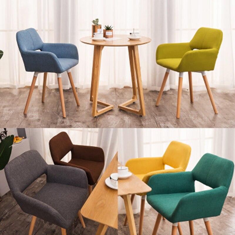 Bois massif famille Restaurant chaise moderne minimaliste ordinateur chaise dos à dos étude chaise nordique paresseux décontracté meubles