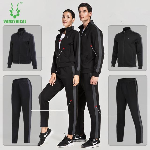 e87135aacf2e8 Vansydical deportes hombre mujer gimnasio ropa Fitness Running Chaquetas  Pantalones conjuntos otoño invierno al aire libre