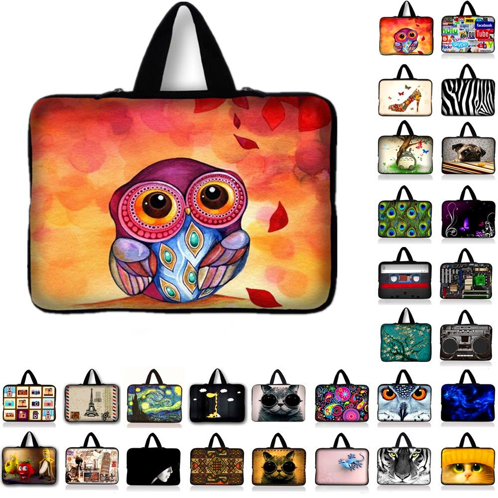 Owl Laptop Notebook Sleeve Bag Case Cover for 7 9.7 10.1 12 13 13.3 14 14.1 15 15.6 17 17.3 inch Ultrabook Laptop Tablet PC #