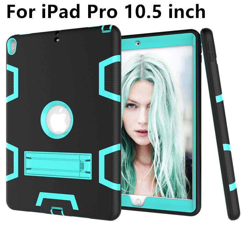 Case For iPad Pro 10.5 inch Case Pro10.5 Armor Shockproof Heavy Duty Silicon+PC Stand Smart Cover Protective shell TPU Cases case for ipad pro 12 9 case tablet cover shockproof heavy duty protect skin rubber hybrid cover for ipad pro 12 9 durable 2 in 1