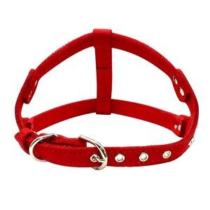Кожаный жилет для щенков, мягкий замшевый жилет для питомцев со стразами и котом, жгуты для маленьких и средних собак чихуахуа, розовый