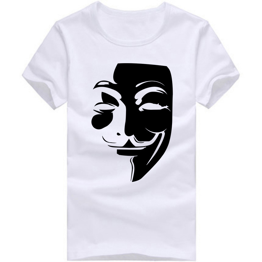 Design t shirt unique -  New Design V For Vendetta Men T Shirt Short Sleeve Round Neck Logo Printed Cartoon T