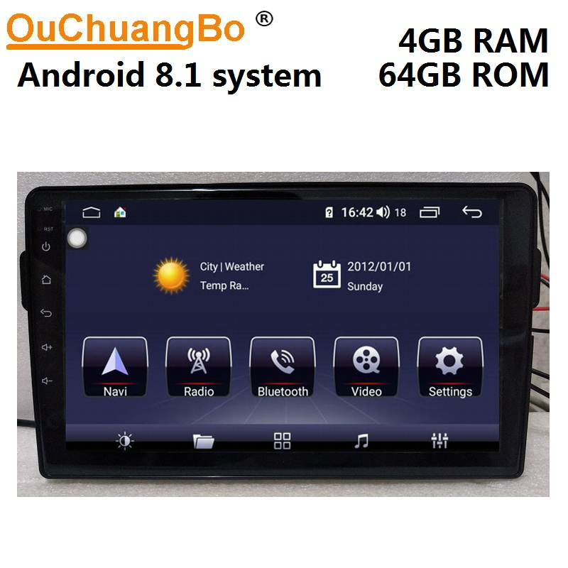 Ouchuangbo android 8.1 raido gps multimedia player para great wall Haval 4 GB + 64 H2 suporte 1080 P vídeo GB