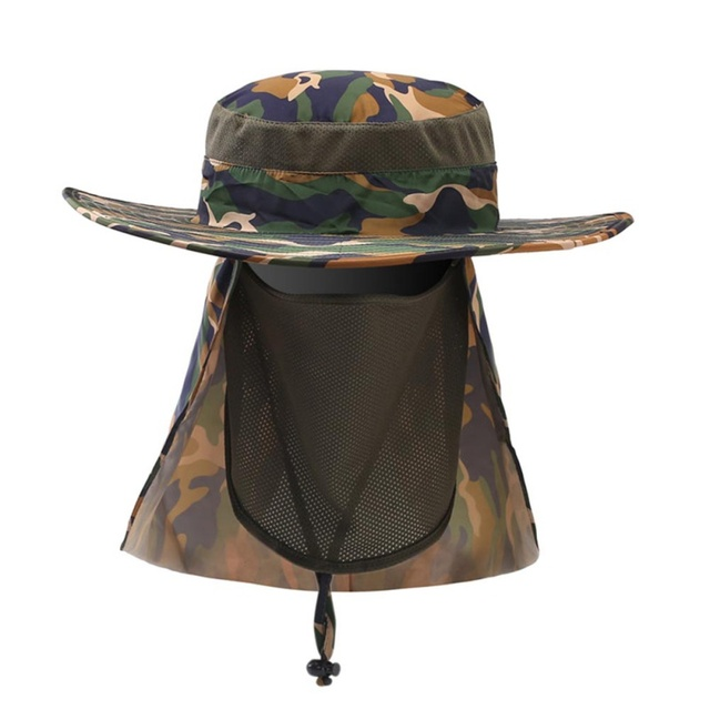 2e3ff4779d69e 2017 Fishing Caps Boating Hiking Army Military Snap Brim Ear Neck Cover Sun  Flap Cap