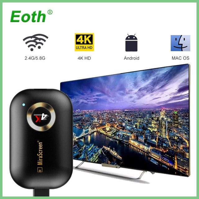 Mirascreen G9 Plus 2.4G 5G 4K sans fil HDMI Android tv stick Miracast Airplay récepteur Wifi Dongle miroir écran streamer moulé